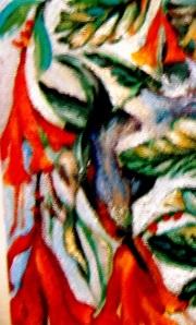 Detail Hummingbird, Tapestry