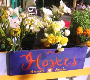 Flower Sign and Cart, Big Sur Hawks Perch Gallery