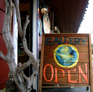 The Hawks Perch Gallery, entrance, Carmel Valley