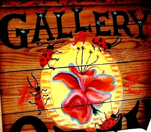 OPEN sign, Carmel Valley gallery, The Hawks Perch, Sparhawk