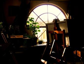 Facing Back Window, the Hawks Perch Gallery of Carmel Valley