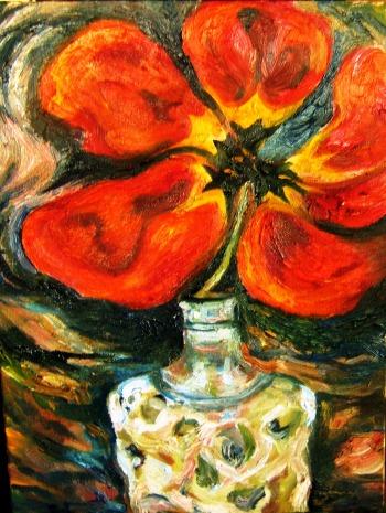 Red Tulip, Lalique Bottle, 1