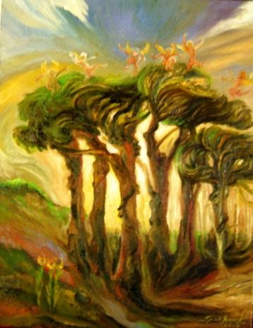 Angels, Dancing on Treetops