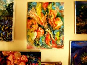 Lilies, Tulips, on Wall