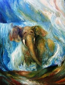 Elephant, Waterfall