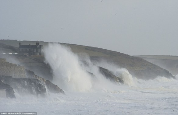 4.Cornish Coast at Porthleven, 20 miles east of Porthchapel Beach